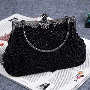 Handbags - Vintage Style Beaded Purse